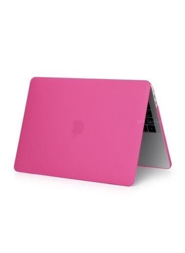 """Mcstorey Yeni MacBook Pro Type-c A1707 A1990 15.4"""" Kılıf Kapak Hard case Mat Pembe"""